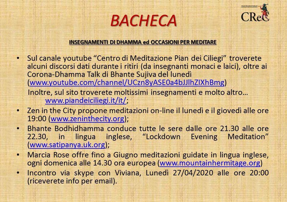 Bacheca Benessere