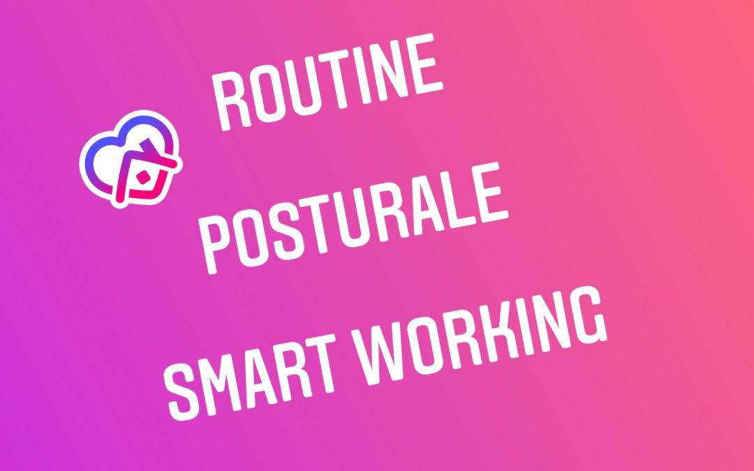ROUTINE POSTURALE SMART WORKING con Giulia