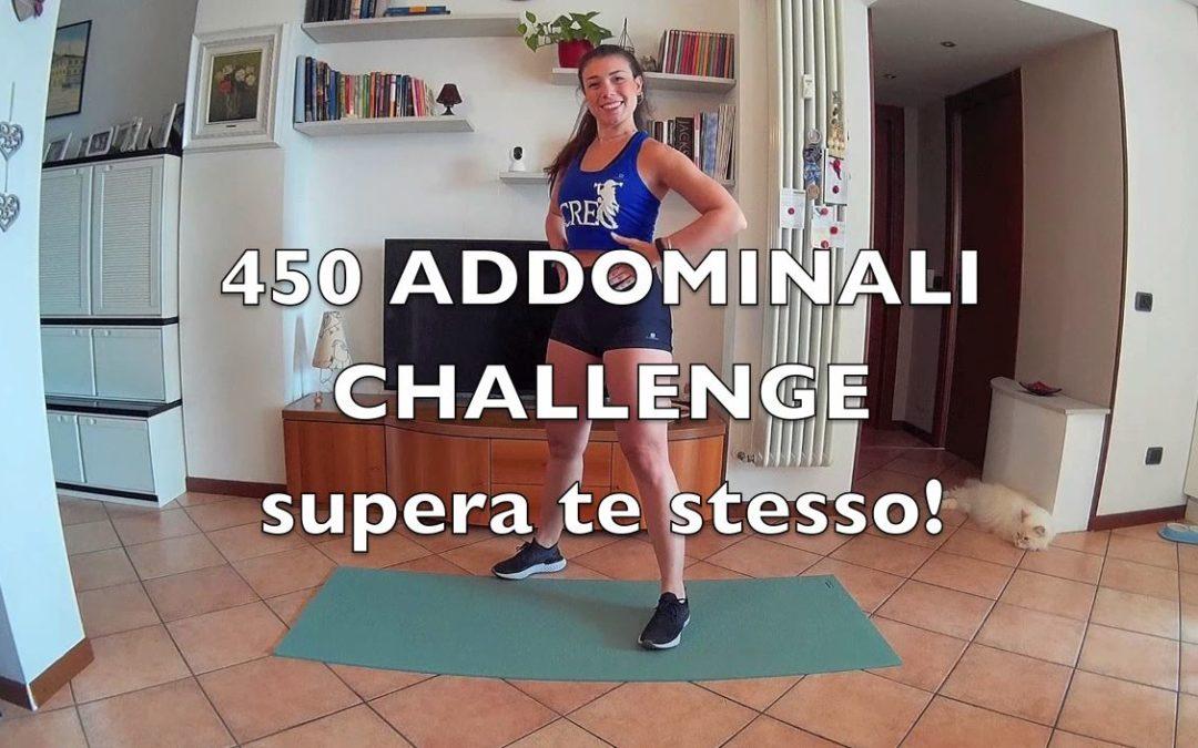 Challenge 450 addominali a terra con Francesca